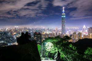 台北101夜景拍攝於象山,台中婚錄張西米